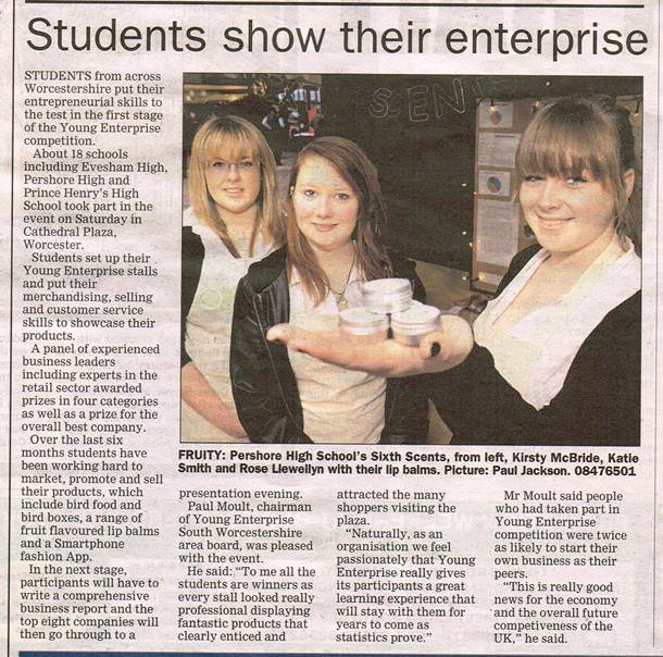 Spring Fair article in Worcester News