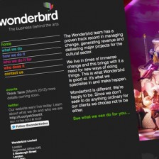 wonderbird.eu - Home, content managed WordPress website
